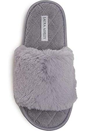 Laura Ashley Damen-Hausschuhe mit Kaninchen-Motiv, offener Zehenbereich, für drinnen und draußen