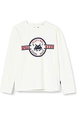 Sanetta Jungen Ivory Kidswear Langarm-Shirt in dunkelblau mit coolem Print auf der Brust