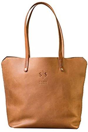 Swish And Swank Handtasche aus echtem Leder, einfaches Design