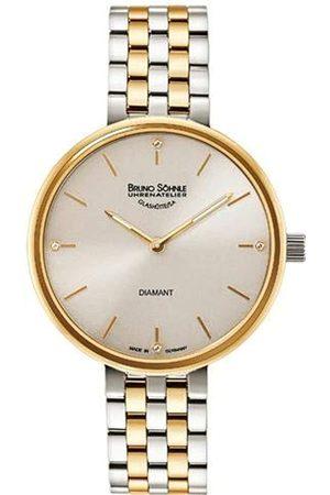 Soehnle Bruno Söhnle Damen Analog Quarz Uhr mit Edelstahl Armband 17-23157-292