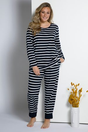 Ulla Popken Damen Schlafanzüge - Pyjamashirt, Damen
