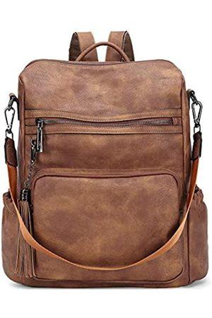 CLUCI Rucksack für Damen, modische, große Leder-Designer-Reise-Schultertasche mit Quaste, (Zweifarbig )
