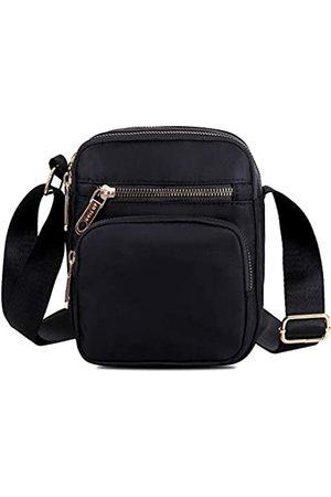 Semikk Kleine Umhängetasche für Damen, Mini-Reisetasche aus Nylon, Handy, Geldbörse, Smartphone, Geldbörse mit mehreren Reißverschlusstaschen