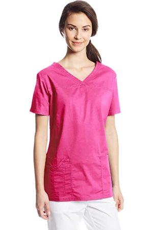 Cherokee Damen Workwear Core Stretch V-Ausschnitt Scrubs Shirt - Pink - X-Klein