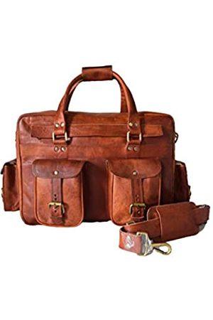 Leather Castle Schultertasche/Umhängetasche, Leder, 38,1 cm (15 Zoll) Laptoptasche, Umhängetasche