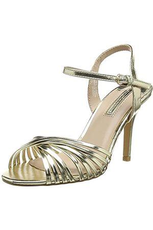 Dorothy Perkins Damen Gold Spiral Sandal Offene Zehensandalen, metallic-goldfarben