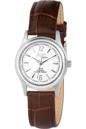 Just Watches Damen-Armbanduhr XS Analog Leder 48-S9228-WH-BR