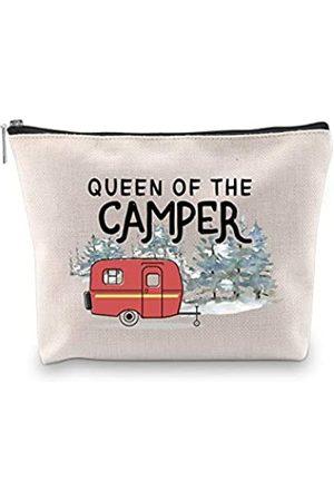 GJTIM Queen of the Camper Make-up-Tasche für Outdoor-Aktivitäten, Camping