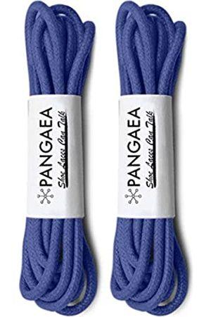 Pangaea [2 Paar] Packung gewachste runde Oxford-Schnürsenkel für Kleid Schuhe Chukka 3/32 Zoll dünn, (#11 Königsblau)