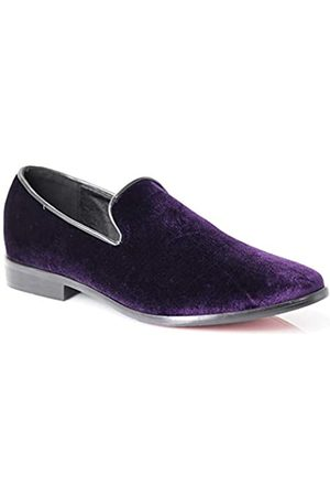 Enzo Romeo SPK03 Herren Vintage Einfarbig Samt Kleid Loafers Slip On Schuhe Klassische Smoking Kleid Schuhe