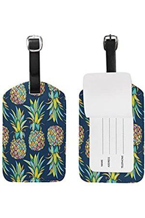 alaza Cooper Girl Tropical Fruit Ananas Gepäckanhänger, Reise-Etikett, Leder, für Gepäck, Koffer