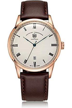 DUFA Unisex Analog Quarz Uhr mit Leder Armband DF-9008-05