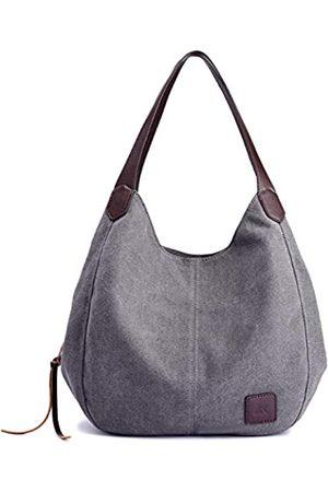 QIXINGHU Schultertasche Casual Handtasche Tote Bag Reisetasche Baumwolle Canvas Tasche geräumige Geldbörse langlebig leicht Damen Größe (LWH): 29