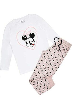 Disney Damen Mickey Mouse Heart Kiss Pyjama Set Pyjamaset