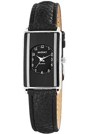 Akzent Damen Analog Quarz Uhr mit Leder Armband SS7321000016