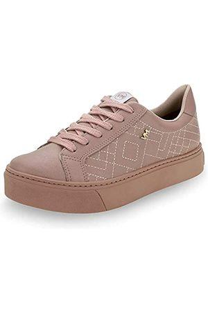 VIA MARTE Damen Sneaker Flatform Comfort Freizeitschuhe Schnürschuhe, Pink (rose)