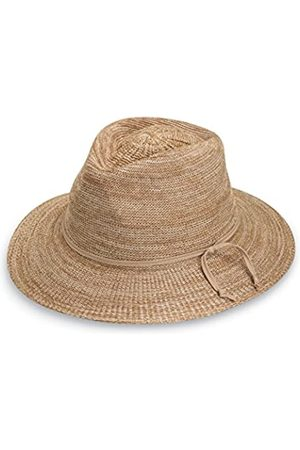 Wallaroo Damen UV Victoria Fedora Hut - UPF50+ Sonnenschutz (Verstellbar & Verpackbar) - Gemischt Camel, 100% papier 100% polyethylen-stroh, Damen