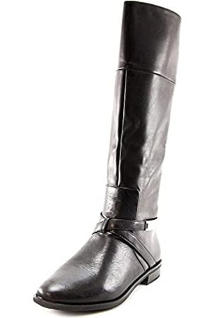 Alfani Womens Egila Leather Almond Toe Knee High Riding Boots Black