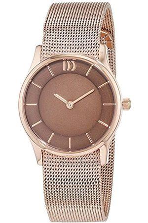 Danish Design Damen Analog Quarz Uhr mit Edelstahl beschichtet Armband 3320202