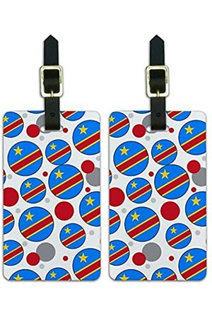 Graphics and More Graphics & More C-i-Demokratische Republik Kongo Nationalflagge - Luggage.Tags.09716