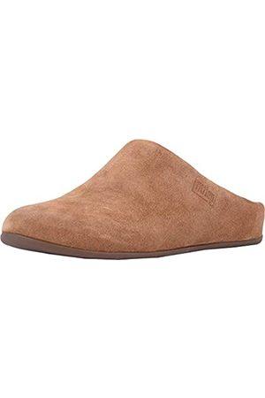 FitFlop Damen Chrissie Shearling Pantoffeln, Brown (Tumbled Tan 645)