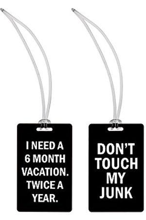 Snark City Ich Brauche einen 6 Monate Urlaub. Zweimal im Jahr. + Nicht Meinen Kram Gepäckanhänger in berühren für Damen klein