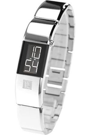 Pierre Lannier 325 A631 Damen-Armbanduhr – verchromter Stahl Glas – Digital – Zifferblatt Armband Stahl Chrom