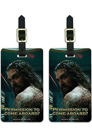 Graphics and More Aquaman Movie Permission to Come Aboard Gepäckanhänger Ausweiskarten 2er Set