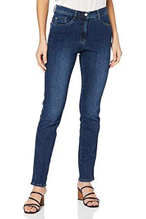 Brax Mary Crystal Romance Damenjeans: Slim Fit Jeans im 5-Pocket-Style, Blau (Used Regular Blue 25)