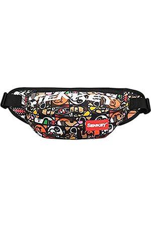 SOPHICATE Hüfttasche für Herren, modische Hip-Hop-Taschen, Gürteltasche mit verstellbarem Gürtel, 2-Wege-Nutzung, Schultertasche, Sport-Bauchtasche, Hüftsack, Reisen, Laufen, Festival, Wandern