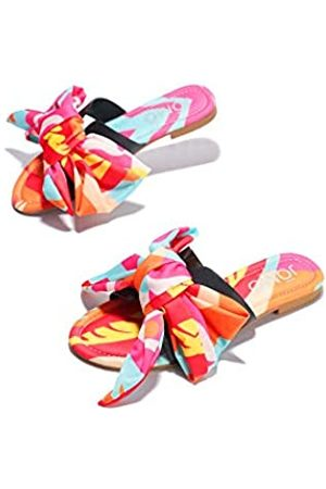 Cape Robbin Babo Flache Sandalen für Damen, Pantoletten, Schlupfschuhe, Orange (rose)