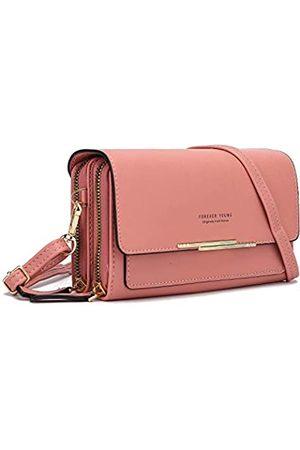 WISMI Crossbody-Tasche für Damen, Leder, Schultertasche