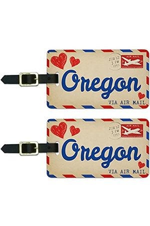Graphics and More Graphics & More Luftpostkarte Love for Oregon, Gepäck, Koffer
