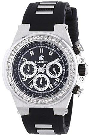 Carucci Watches Damen-Armbanduhr Analog Automatik Kautschuk CA2215BK-BK