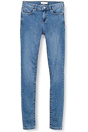 Springfield Jeans Jegging Lavado Sostenible Pantalones, Azul Medio