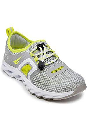 Nautica Womens Water Shoes Jogging Quick Dry Pool Sports Sneaker-Aslin-Grey/Yellow-8