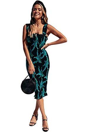 SEMIR Sommerkeid Damen Kurz Jumpsuit Elegant V-Ausschnitt Sexy Kleid Kurzarm Overall Einteiler Damen L