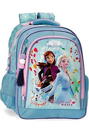 Disney Frozen Die Eiskönigin Awesome Moves Doppelfach-Rucksack 29x38x16 cms Mikrofaser und PVC. 17.63L