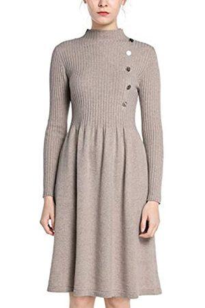 Apart APART Damen Kleid, wärmendes Strickkleid, Zierknöpfe, weiter Rockpart, mit Kaschmiranteil