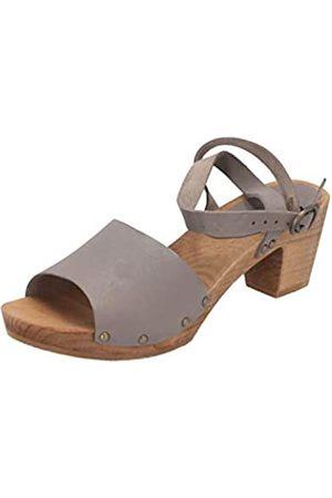 Sanita Damen Yara Square Flex Sandal Knöchelriemchen, (Grey 20)