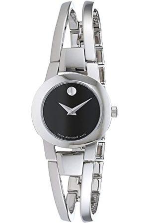 Movado Damen Analogue Quartz Uhr mit Stainless Steel Armband 604759