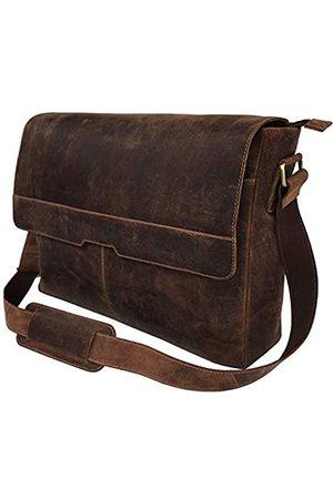 cuero Vintage Computer Leder Laptop Messenger Bag für Herren Leder Aktentasche Schultertasche Mann & Frau Tasche (40