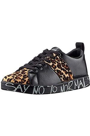Desigual Damen Shoes_Cosmic_Leopard Sneaker, Black