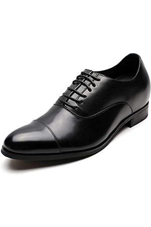 CHAMARIPA Herren Unsichtbare Höhensteigerung Elevator Schuhe Formale Oxford Smoking Kleid Schuhe Echtes Leder 7,5 cm größer X92H38-1, ( -x92h38)