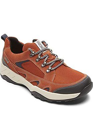 Rockport Men's XCS Spruce Peak Blucher Walking Shoe, Bombay Brown Suede/MESH
