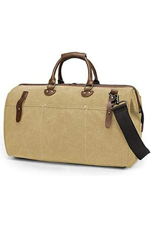 TAK Vintage Seesack Canvas Reisetasche mit Schultergurt für Reisen Fitnessstudio Übernachtung Wochenende