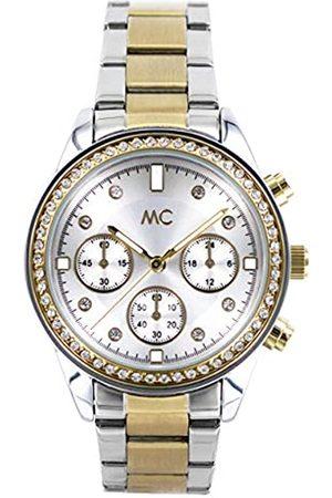 MC MCTimetrendDamenAnalogQuarzUhrmitEdelstahlArmband51882