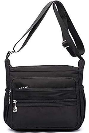 Collsants Kleine Nylon-Umhängetasche für Damen, für jeden Tag, Reisen, Schultertasche, mehrere Taschen