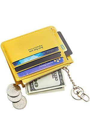 Cyanb Schlankes Kartenetui aus Leder für Damen und Mädchen mit Schlüsselring.
