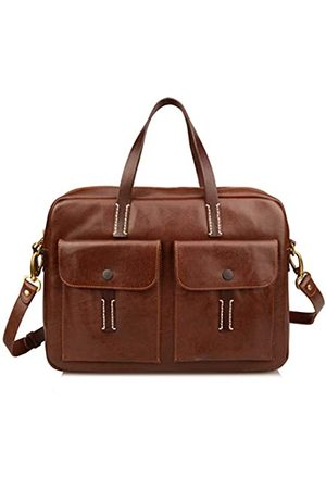 Ainifeel Damen-Aktentasche aus echtem Leder, 38,1 cm (15 Zoll) Laptop-Taschen